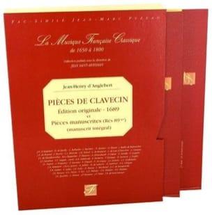 Pièces de Clavecin Jean-Henry d' Anglebert Partition laflutedepan