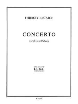 Concerto - Thierry Escaich - Partition - Orgue - laflutedepan.com