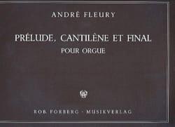 André Fleury - Prélude, Cantilène et final - Partition - di-arezzo.fr