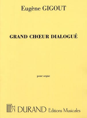 Eugène Gigout - Grand Choeur Dialogué - Partition - di-arezzo.fr