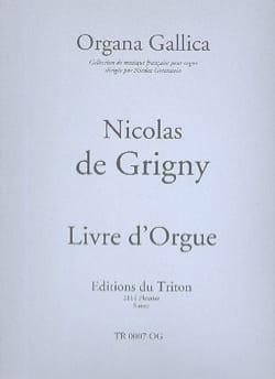 Nicolas de Grigny - Livre D'orgue. - Partition - di-arezzo.fr