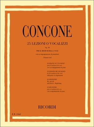 Giuseppe Concone - 25 Lessons Or Vocalises Opus 10 - Sheet Music - di-arezzo.co.uk