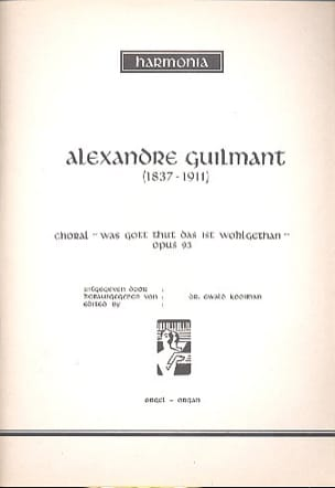 Choral Op. 93 - Alexandre Guilmant - Partition - laflutedepan.com