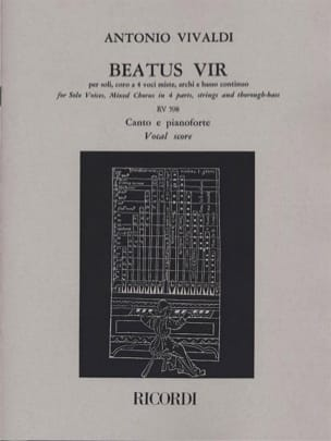 Antonio Vivaldi - Beatus Vir RV 598 - Partition - di-arezzo.fr