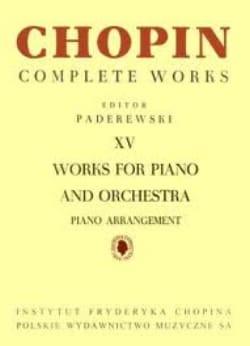 CHOPIN - Oeuvres Pour Piano Et Orchestre - Partition - di-arezzo.fr