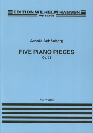 Arnold Schoenberg - 5 Klavierstücke Opus 23 - Partition - di-arezzo.fr