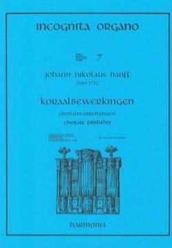 Préludes de Chorals Johann Nikolaus Hanff Partition laflutedepan