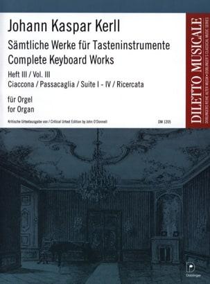 Johann Kaspar Kerll - Oeuvres Complètes Volume 3 - Partition - di-arezzo.fr