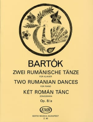 2 Danses Roumaines Opus 8/A BARTOK Partition Piano - laflutedepan