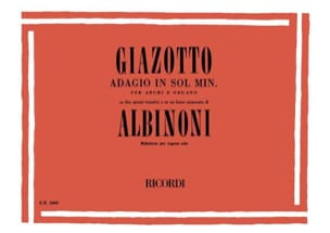 Albinoni Tomaso / Giazotto - Adagio organ - Sheet Music - di-arezzo.com