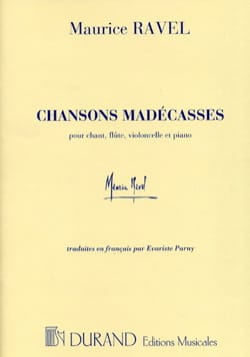 Chansons Madécasses RAVEL Partition laflutedepan