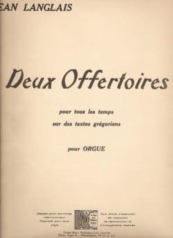 Jean Langlais - 2 Offertoires - Partition - di-arezzo.fr