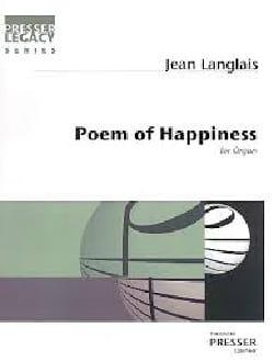 Poem Of Happiness - Jean Langlais - Partition - laflutedepan.com