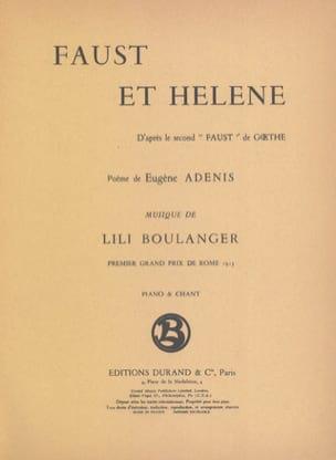 Lili Boulanger - Faust and Helen - Sheet Music - di-arezzo.co.uk