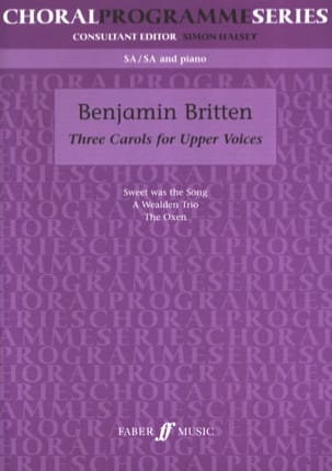 Benjamin Britten - 3 Carols For Upper Voices - Partition - di-arezzo.fr