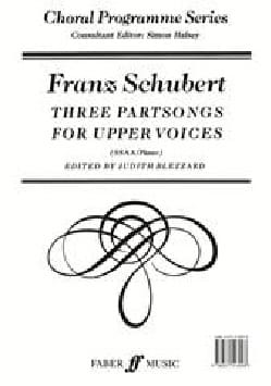 SCHUBERT - 3 Partsongs For Upper Voices - Sheet Music - di-arezzo.com