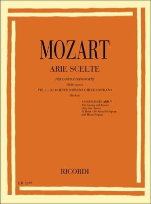 Arie Scelte Soprano Et Mezzo Volume 2 MOZART Partition laflutedepan