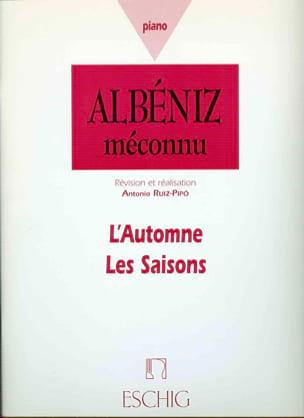 L'automne, Les Saisons - Isaac Albeniz - Partition - laflutedepan.com