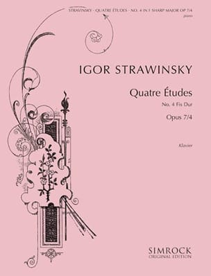 Igor Stravinski - 4 Opus Studies 7-4 - Sheet Music - di-arezzo.co.uk