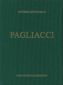 Ruggiero Leoncavallo - Pagliacci - Sheet Music - di-arezzo.co.uk