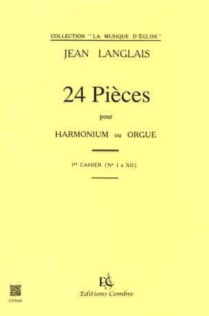 Jean Langlais - 24 Pieces Opus 6. 1st workbook - Sheet Music - di-arezzo.co.uk