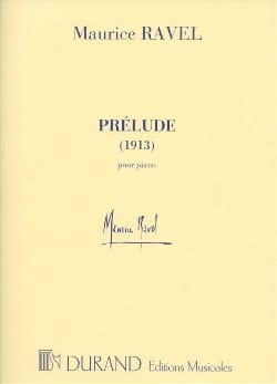 Prélude 1913 RAVEL Partition Piano - laflutedepan