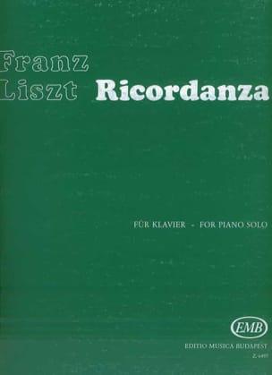 Ricordanza - Franz Liszt - Partition - Piano - laflutedepan.com
