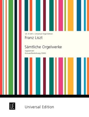 Franz Liszt - Complete Work Supplement - Sheet Music - di-arezzo.com