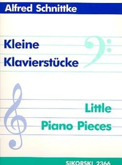 Kleine Klavierstücke SCHNITTKE Partition Piano - laflutedepan