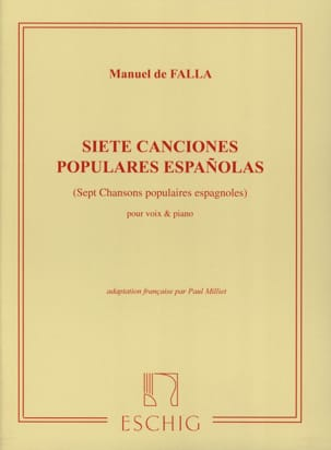 DE FALLA - 7 Canciones Populares Españolas. Mean Voice - Sheet Music - di-arezzo.co.uk