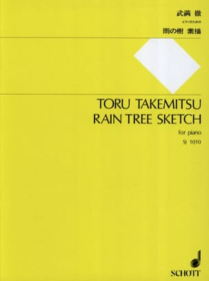Rain Tree Sketch TAKEMITSU Partition Piano - laflutedepan
