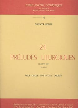 Gaston Litaize - 24 Preludi liturgici Volume 2 - Partitura - di-arezzo.it