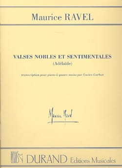 Valses Nobles et Sentimentales. 4 mains RAVEL Partition laflutedepan