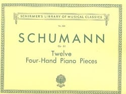 SCHUMANN - 12 Pieces Opus 85. 4 Hands - Sheet Music - di-arezzo.co.uk