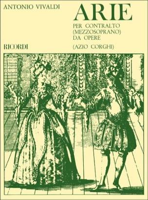 VIVALDI - Arie Per Contralto Da Opere - Partition - di-arezzo.co.uk