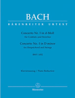 BACH - Keyboard Concerto In D Minor BWV 1052 - Sheet Music - di-arezzo.co.uk