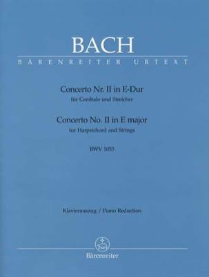 BACH - Concerto Pour Clavier En Mi Majeur BWV 1053 - Partition - di-arezzo.fr