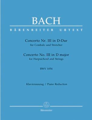 Jean-Sébastien Bach - Concerto Pour Clavier En Ré Majeur BWV 1054 - Partition - di-arezzo.fr
