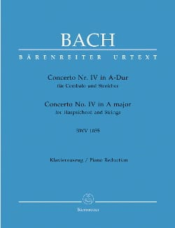 BACH - Keyboard Concerto in A major BWV 1055 - Partition - di-arezzo.co.uk