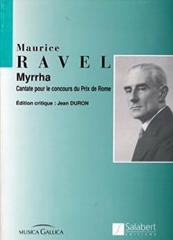 Maurice Ravel - Myrrha - Partition - di-arezzo.fr