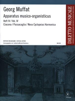 Georg Muffat - Apparatus Musico-Organisticus Volume 4 - Partition - di-arezzo.fr