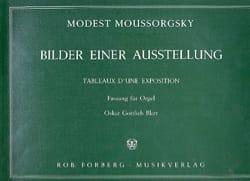 Modest Moussorgsky - Tableaux D'une Exposition - Partition - di-arezzo.fr