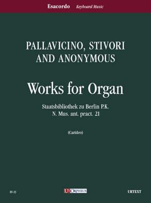 Pallavicino-Stivori - Oeuvres Pour Orgue - Partition - di-arezzo.fr