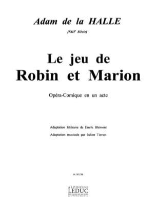 Le Jeu de Robin et Marion - Adam de la Halle - laflutedepan.com