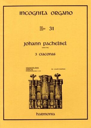 Johann Pachelbel - 3 Ciaconas - Partition - di-arezzo.fr