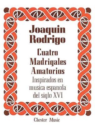 Joaquin Rodrigo - 4 Madrigales Amatorios. Voix Haute - Partition - di-arezzo.fr