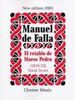 DE FALLA - El Retablo de Maese Pedro. - Sheet Music - di-arezzo.co.uk