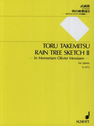 Rain Tree Sketch 2 TAKEMITSU Partition Piano - laflutedepan