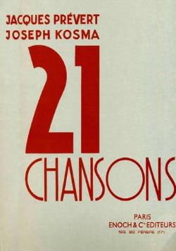Joseph Kosma - 21 Chansons - Partition - di-arezzo.fr