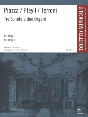 Piazza / Pfeyll / Terreni - 3 Sonates A 2 Orgues - Partition - di-arezzo.fr